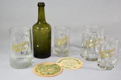 Kristallglas-Bierkrüge mit Porzellanschrift