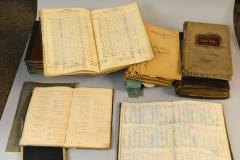Geschäftsbücher aus den Anfangsjahren
