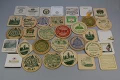 Verschiedene Bierdeckel, von 1920-2010